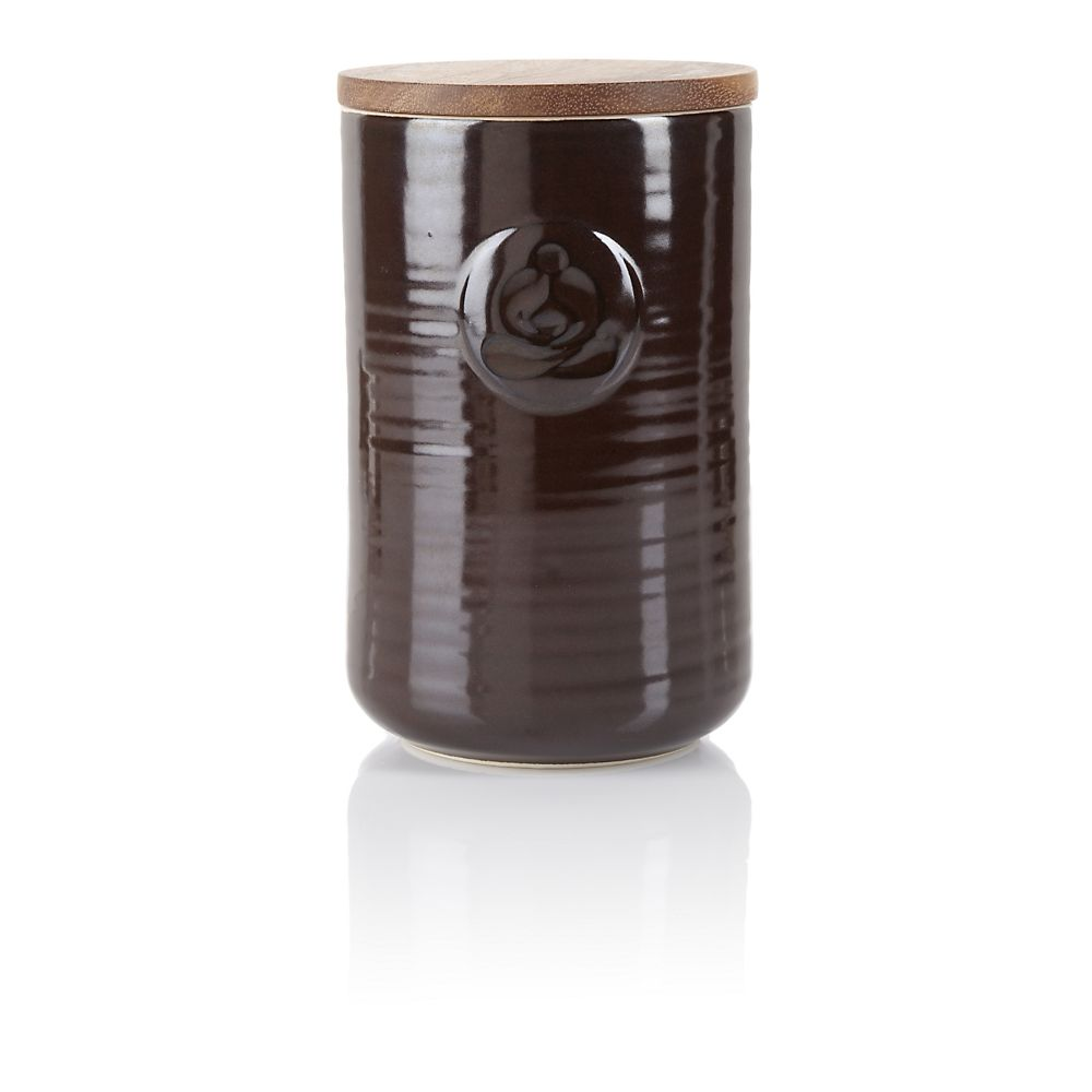 Teavana Brown Retro Stoneware Tea Canister, 8 oz