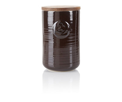 Chocolate Stoneware Tea Canister