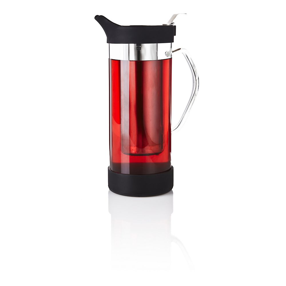 Teavana Large Infuser Glass Pitcher with Silicone Protectors, Tristan, 64oz