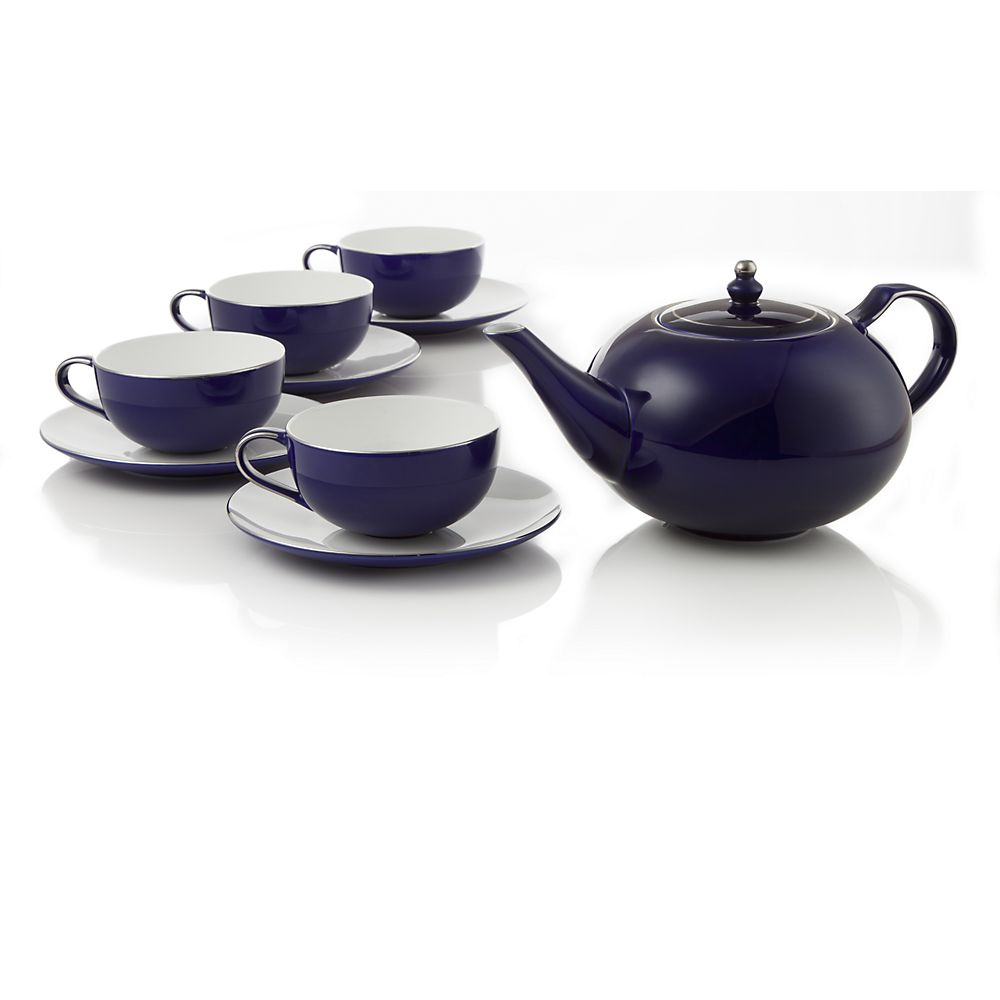Teavana Royal Sapphire Bone China Tea Set