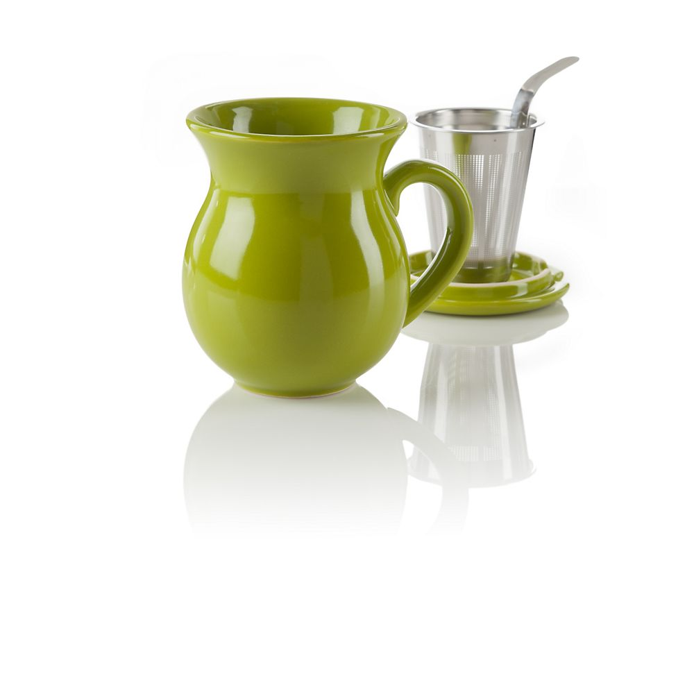 Teavana Curve Green Infuser Tea Mug