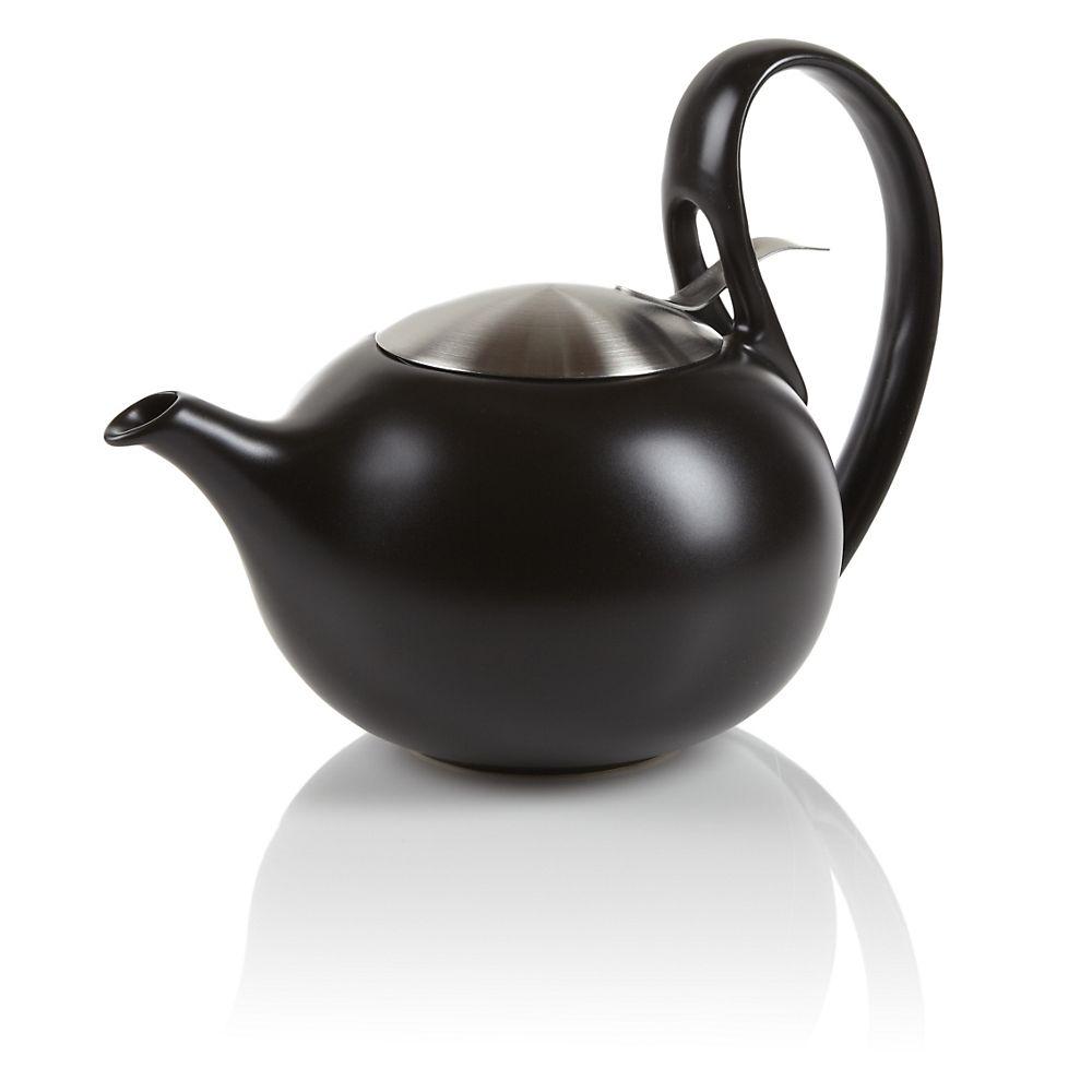 Jasmine Modern Black Teapot