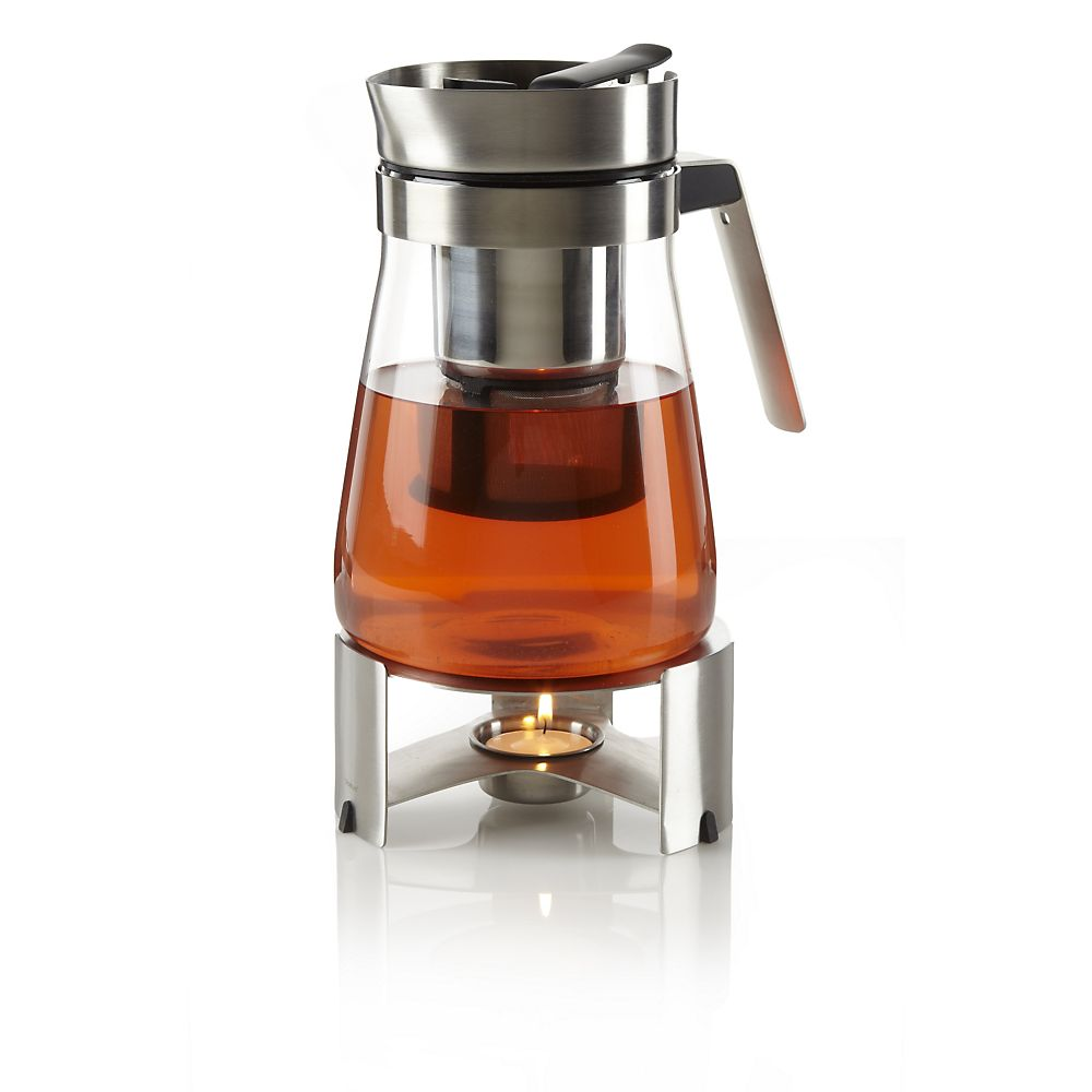 Teavana Modern Stainless Steel & Glass Tea Maker with Warmer