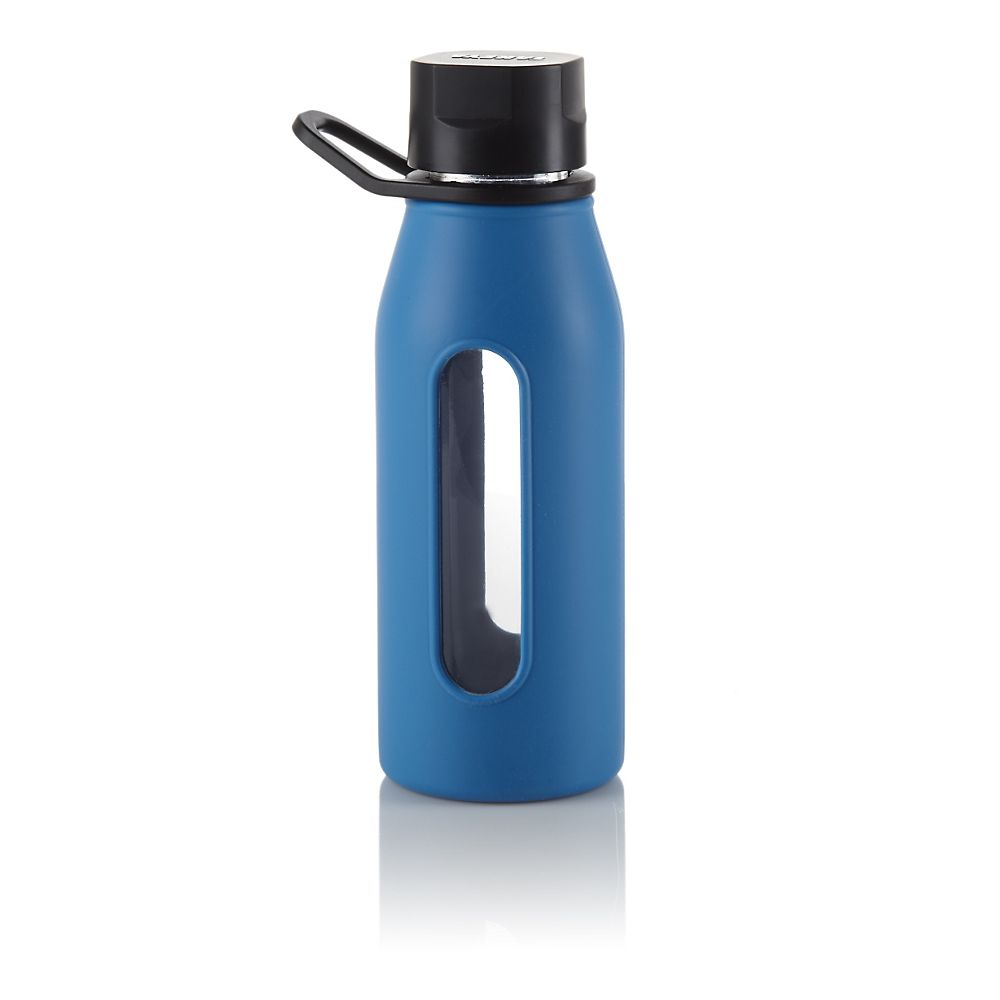 Teavana Blue Glass Silicone Bottle