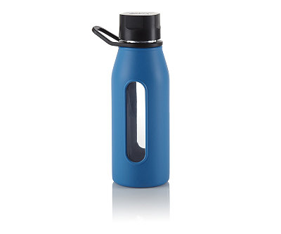 Blue Glass Silicone Bottle