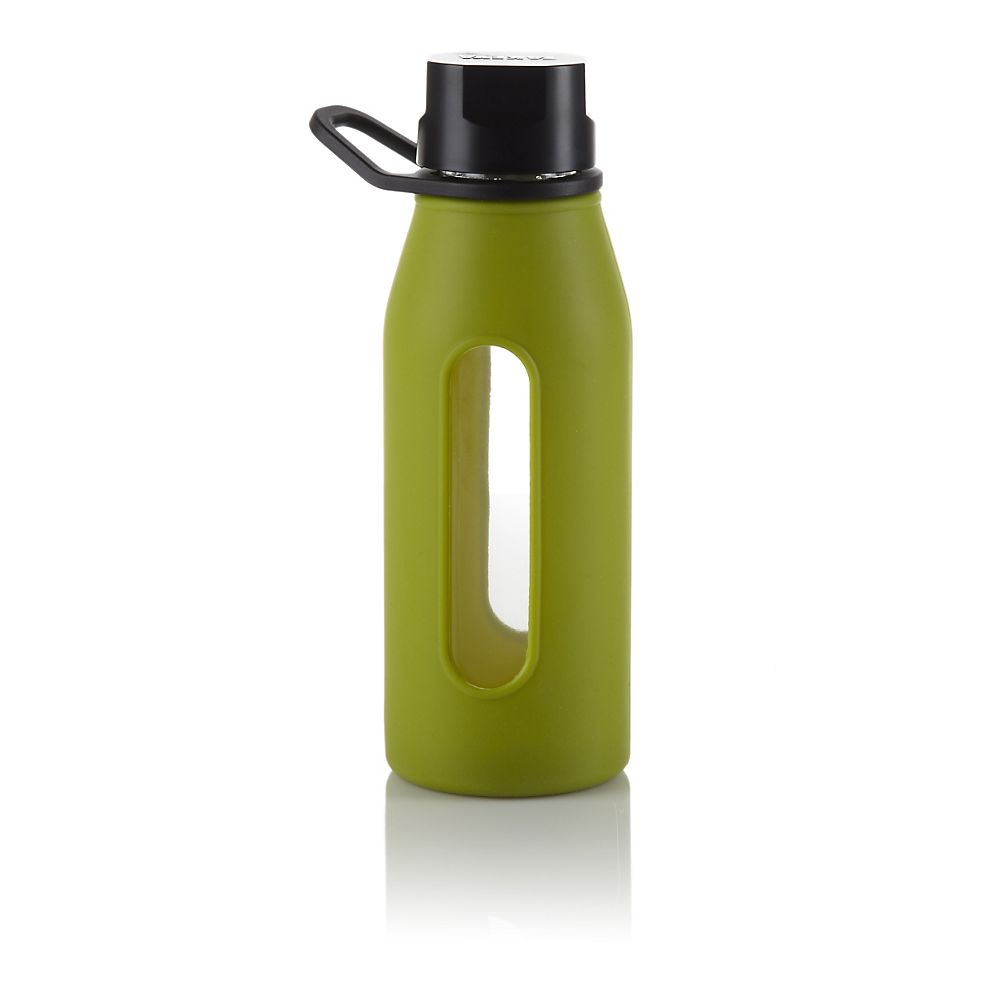 Teavana Green Glass Silicone Bottle
