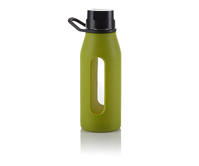Green Glass Silicone Bottle