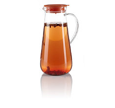 Iced Tea Pitcher with Orange Lid