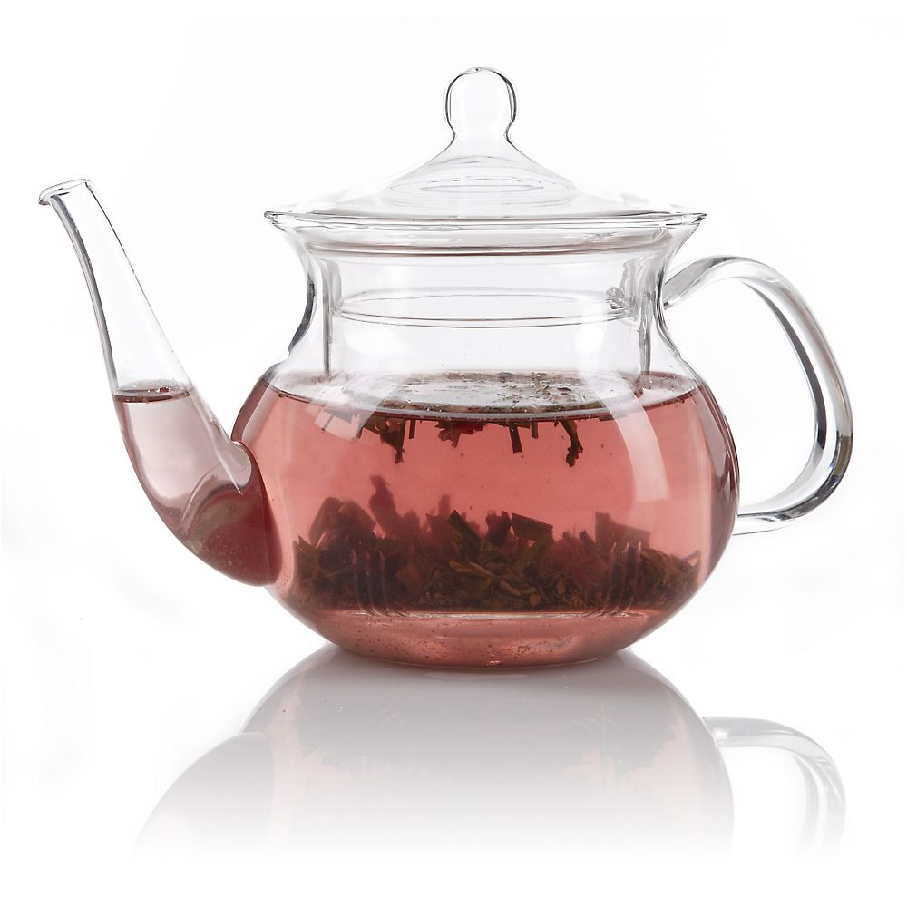 Teavana Pagoda Clear Glass Teapot