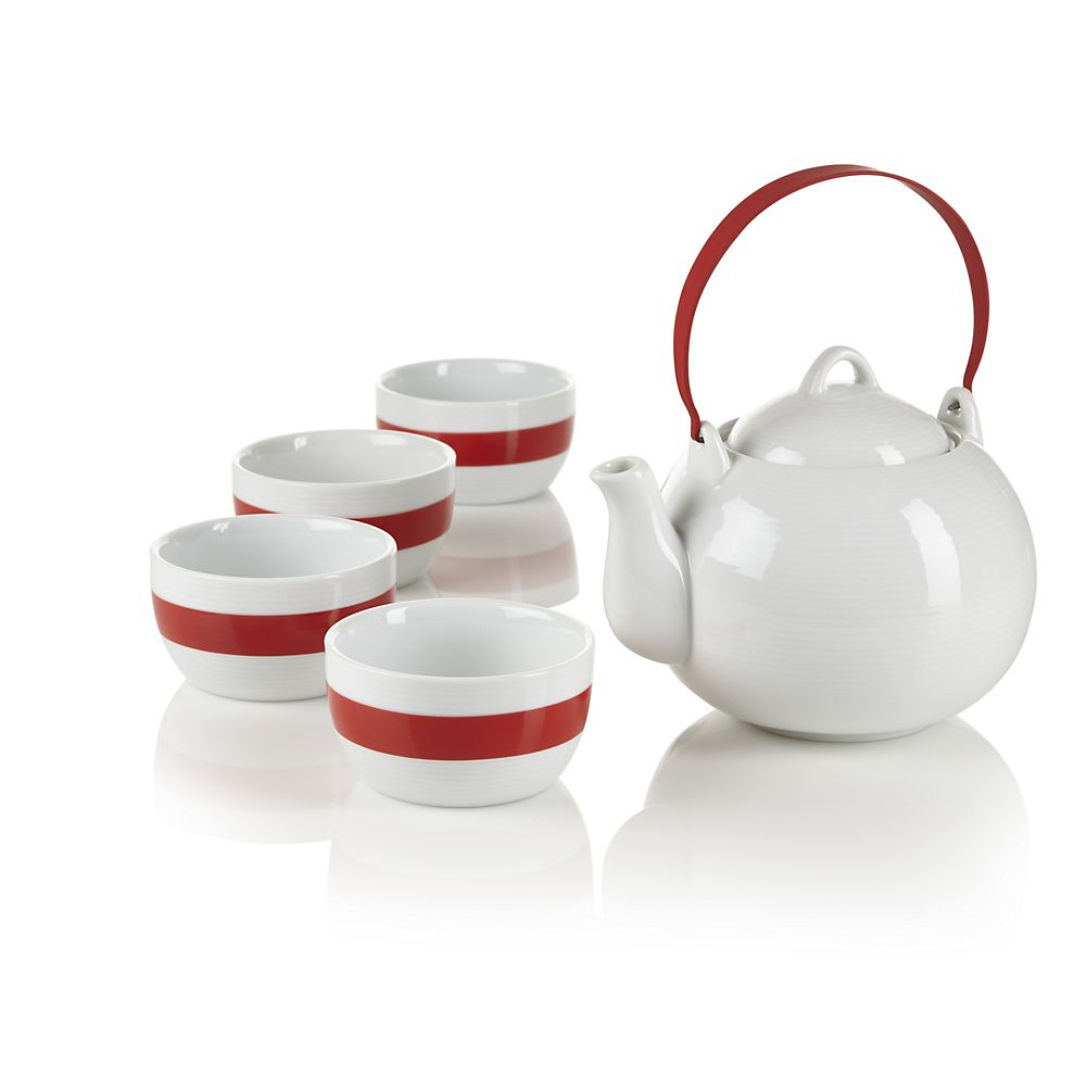 Teavana Red Spin 5-Piece Tea Set