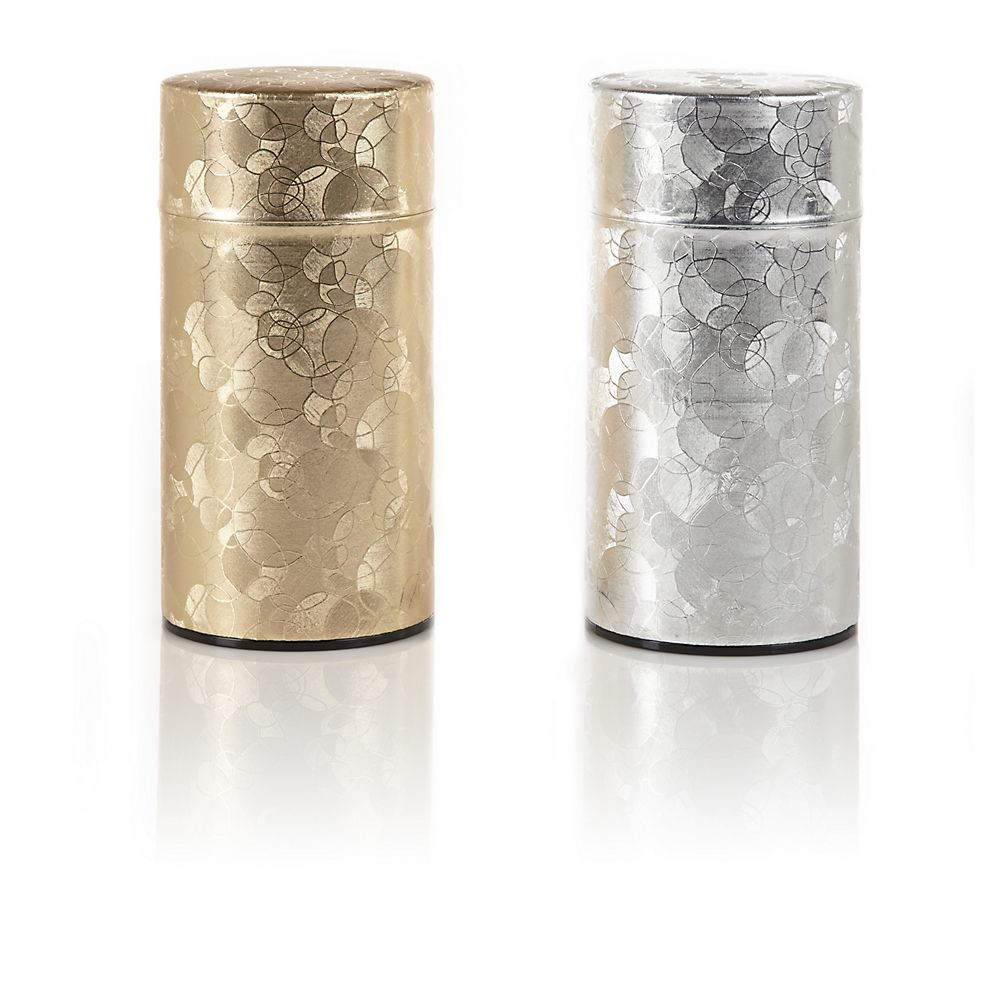 Teavana Bubbles Metallic Tea Tins