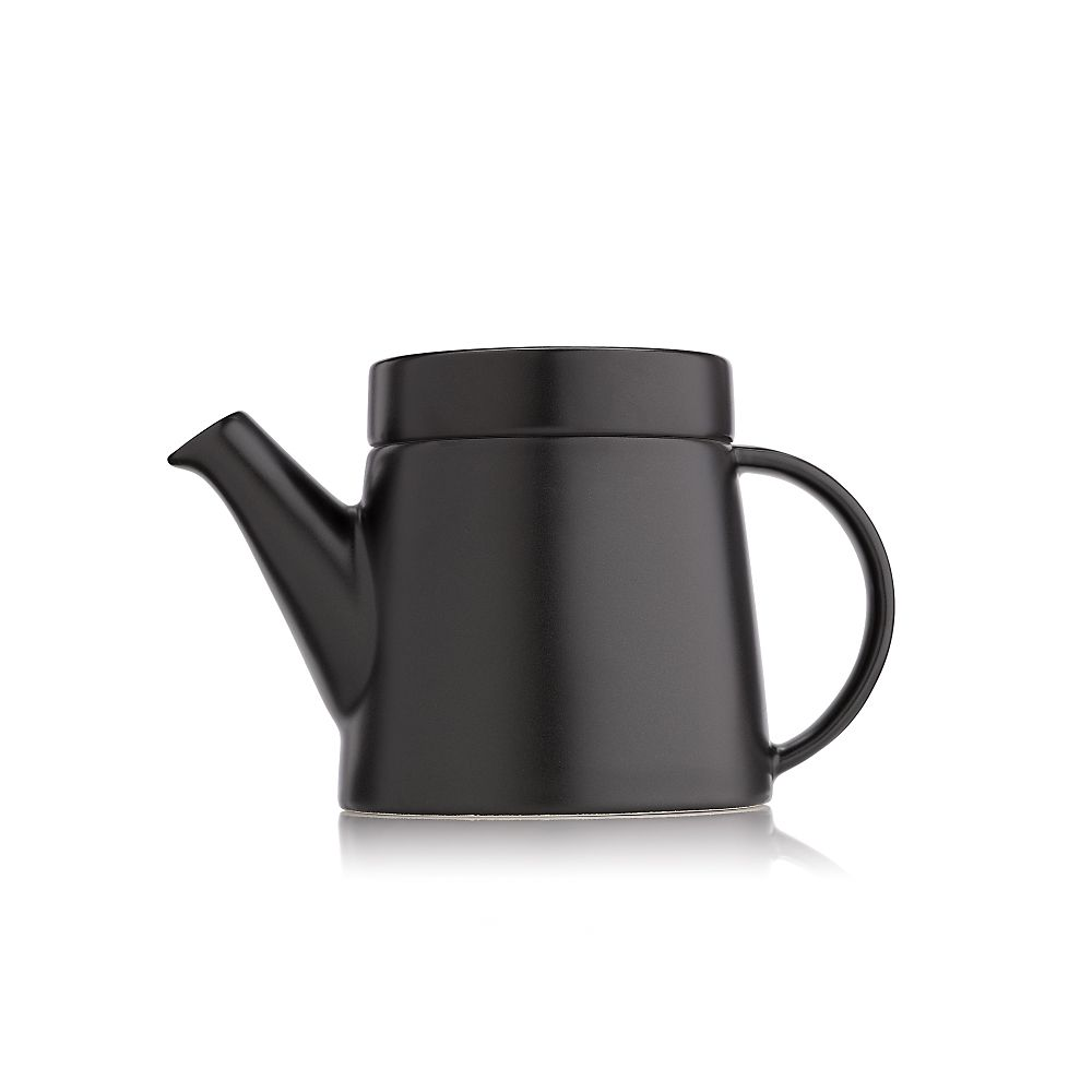 Teavana contemporary brown flat top teapot innopoint - Teavana tea pots ...