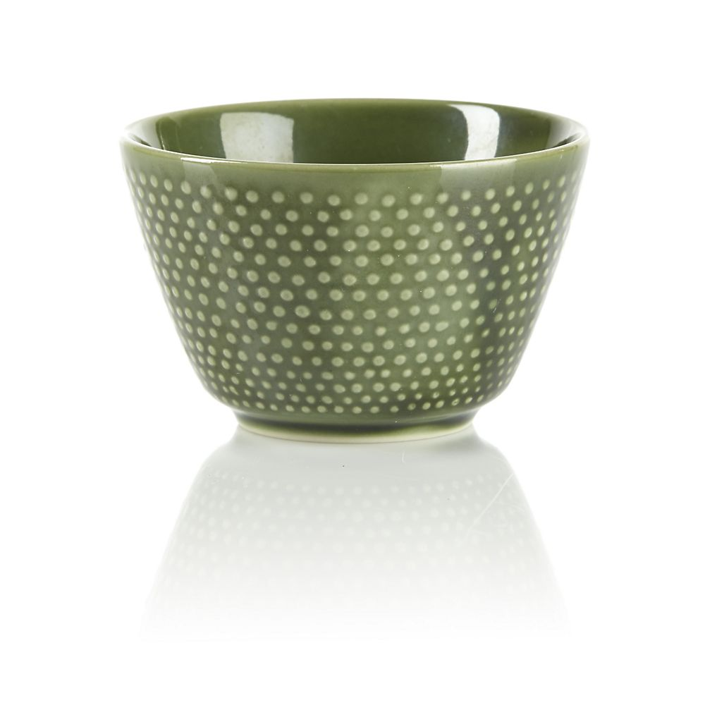 Teavana Ceramic Green Hobnail Tea Cup