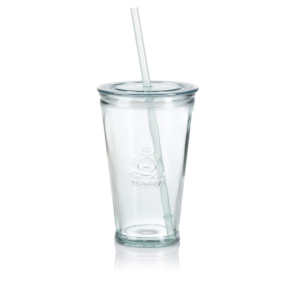 Teavana Recycled Glass Iced Tea Tumbler with Straw