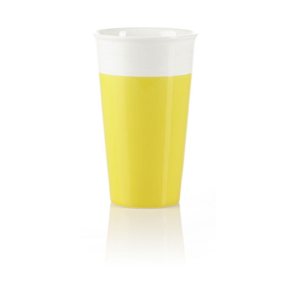 Teavana Yellow Ceramic Iced Tea Tumbler