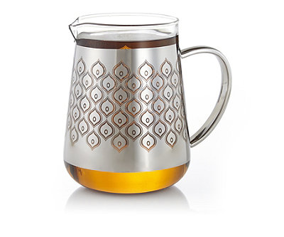 Patterned chai glass pitcher at teavana teavana - Teavana glass teapot ...