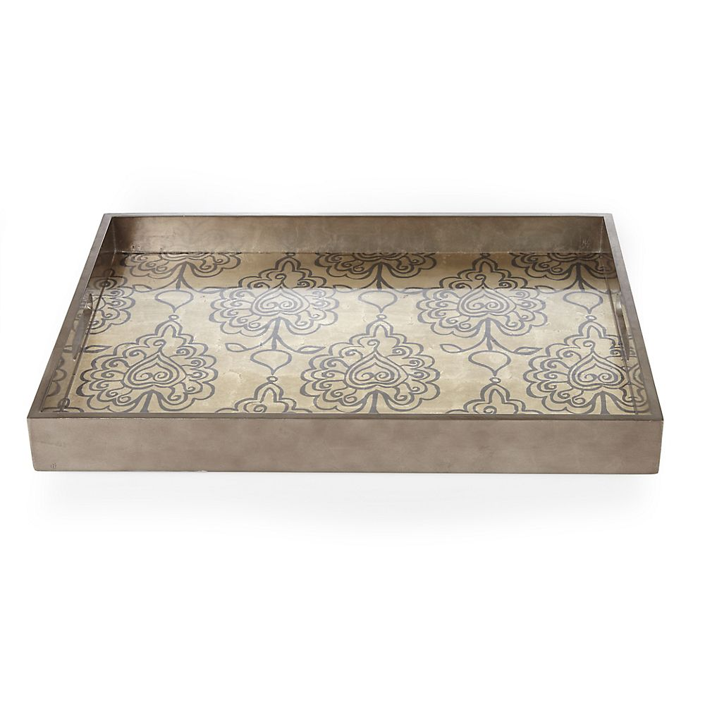Teavana Henna Gold Leaf Tea Tray