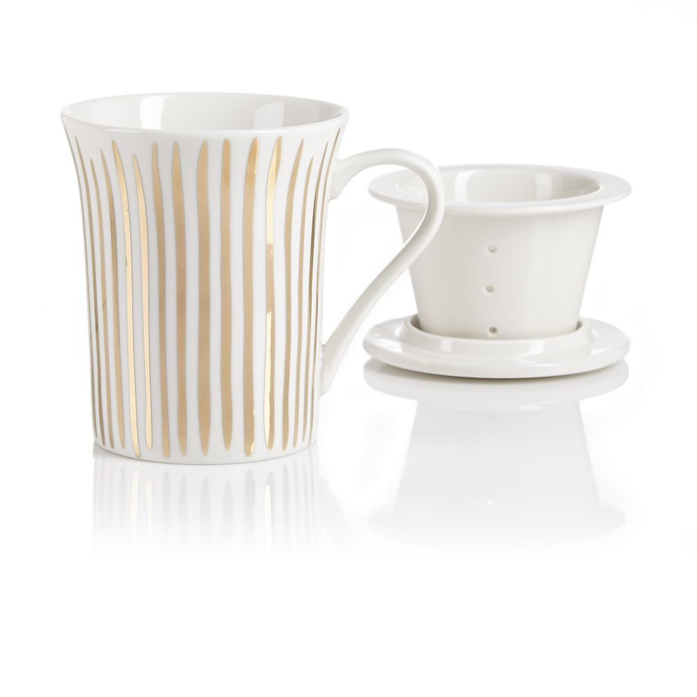 Teavana Golden Stripes Infuser Mug