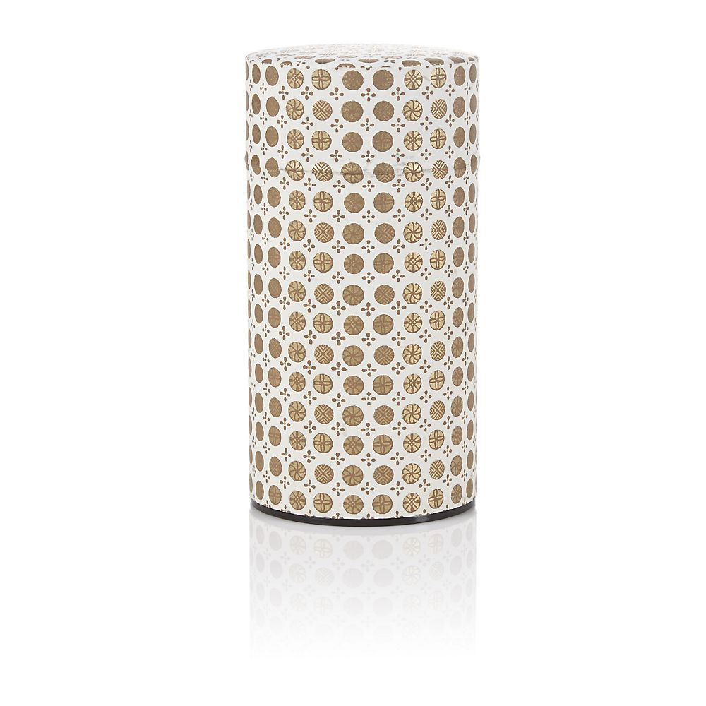 Teavana White Ellipse Washi Tin - 5oz