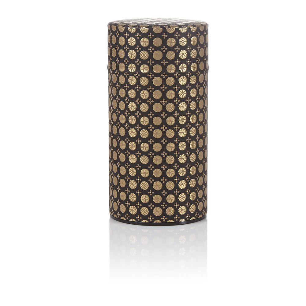 Teavana Black Ellipse Washi Tin - 5oz