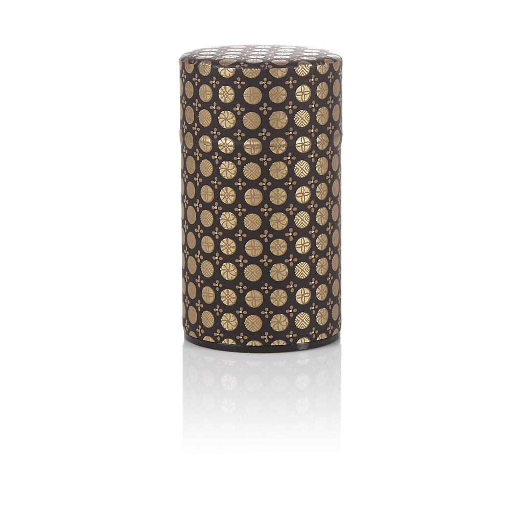 Teavana Black Ellipse Washi Tin - 3oz