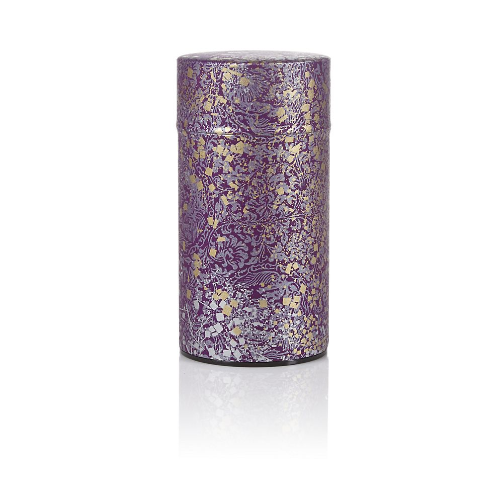 Teavana Purple Metallic Washi Tin - 5oz