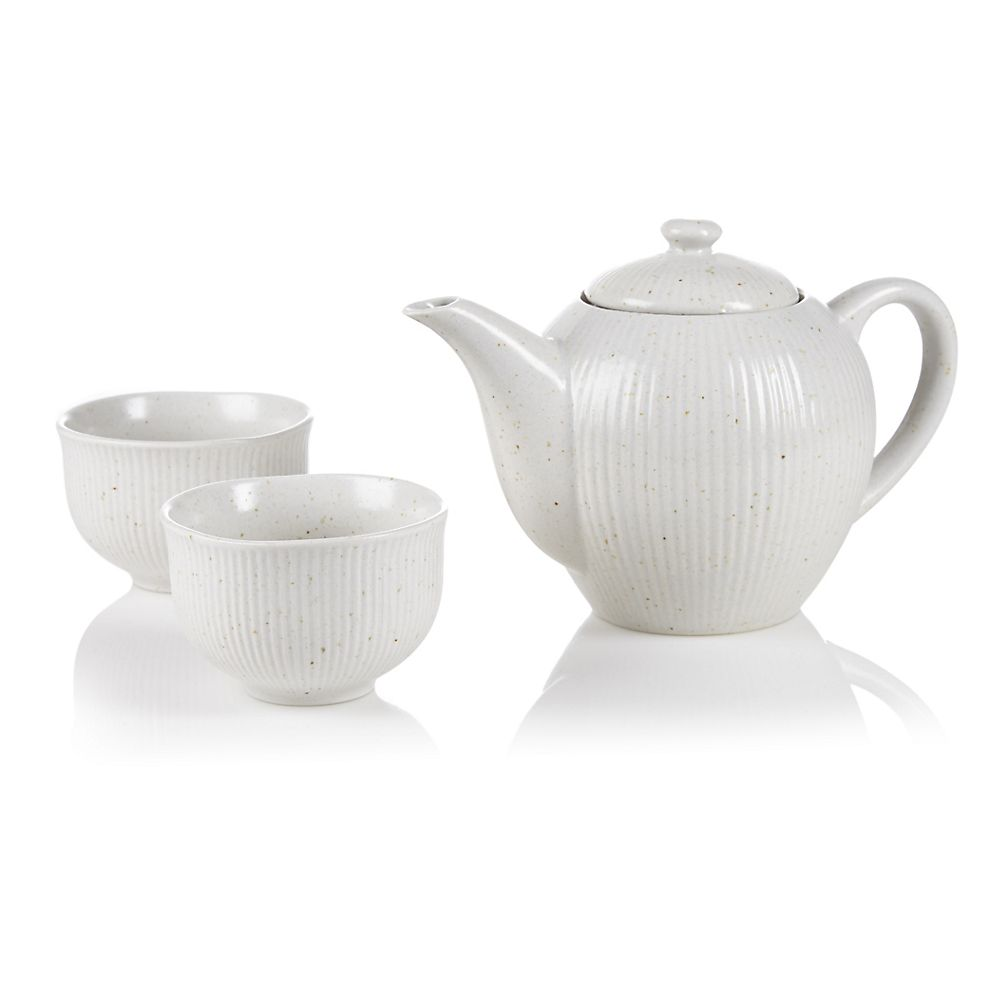 Teavana Dover White 3-Piece Tea Set