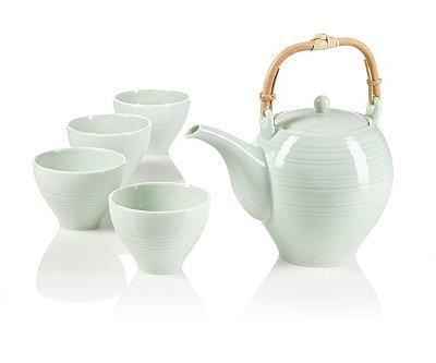 Tsuki celadon teapot set at teavana teavana - Teavana teapot set ...