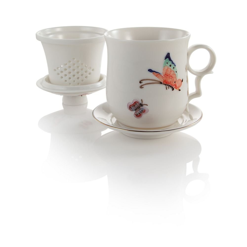 Teavana Flight of the Butterfly Porcelain Infuser Tea Mug