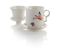 Flight of the Butterfly Porcelain Infuser Mug