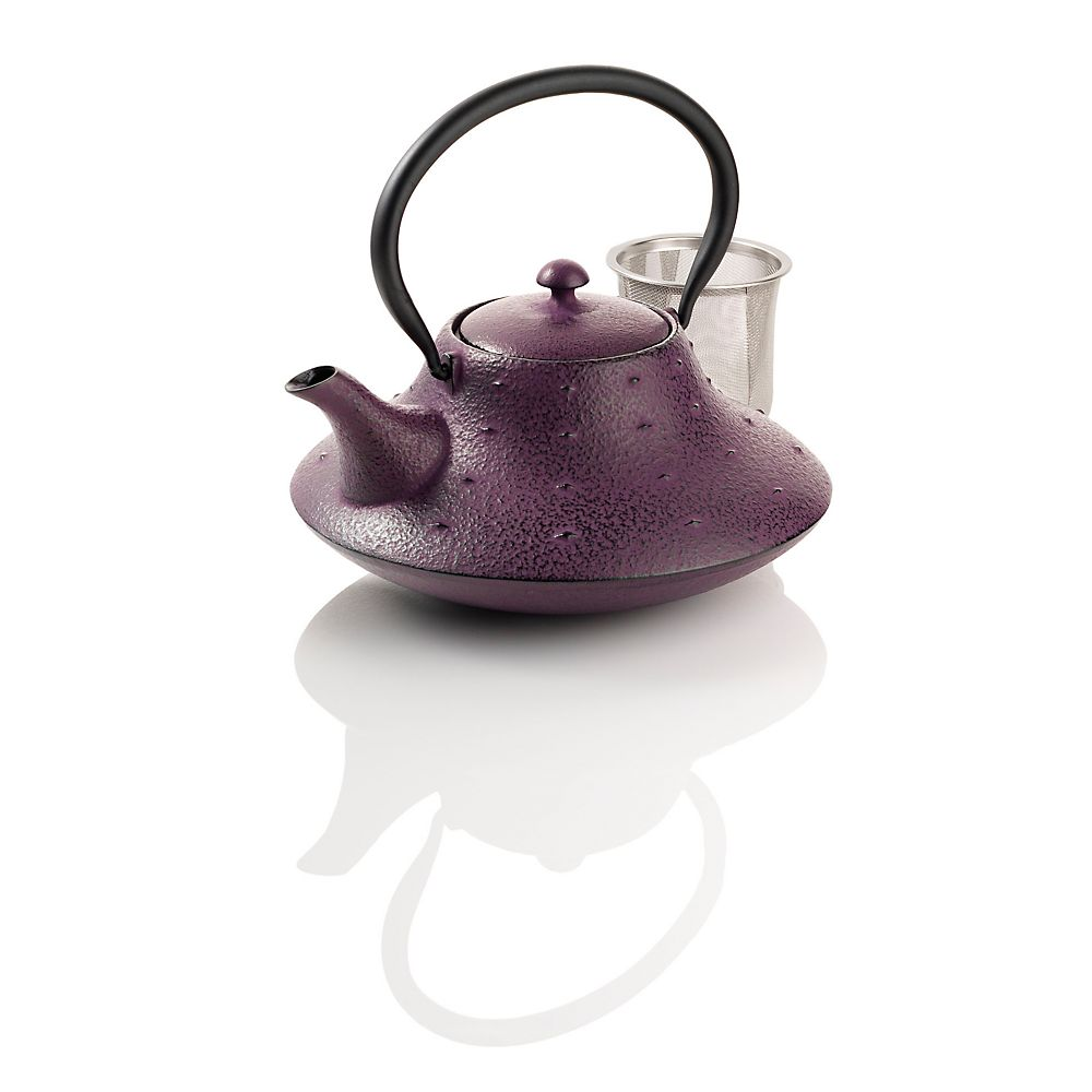 Teavana Stars and Mountain Purple Cast Iron Teapot