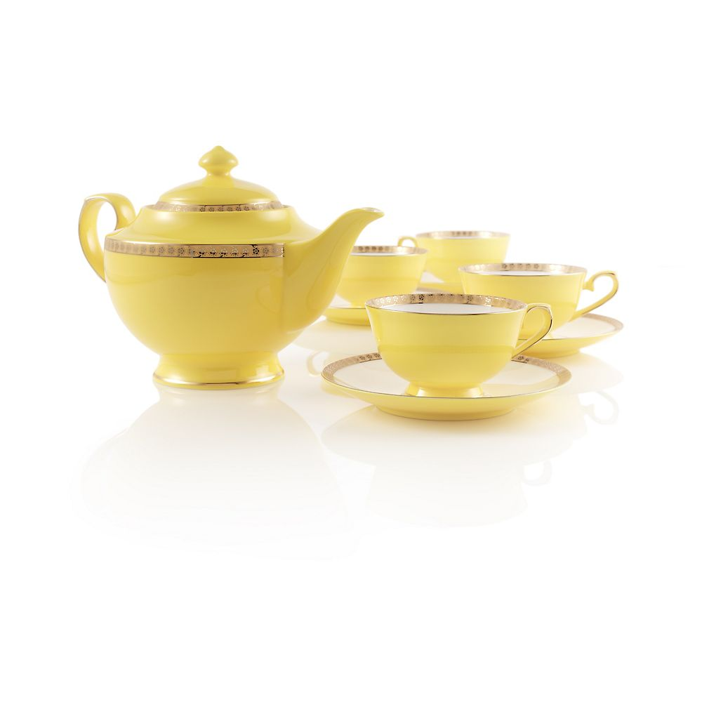 Teavana Noble Poppy Bone China Tea Set