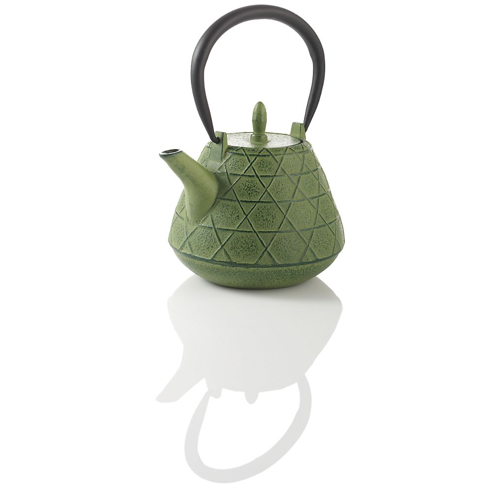 Teavana Stitch Green Cast Iron Teapot