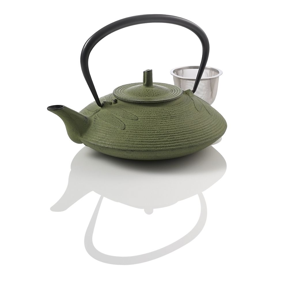 Teavana Small Dragonfly Cast Iron Teapot, Green
