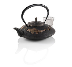 Prosperity Koi Cast Iron Teapot