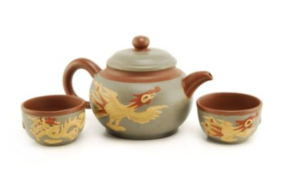 Teavana Phoenix and Dragon Yixing Teapot