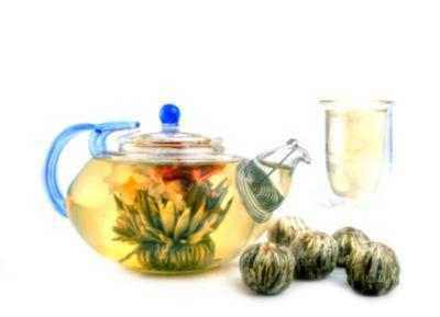 Sur La Mer Glass Teapot