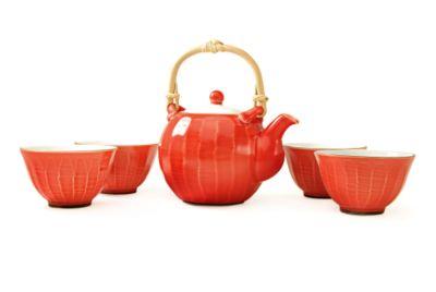 Red Passion Ceramic Teapot