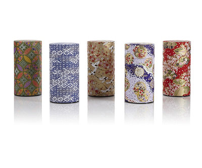 Washi Tea Tins