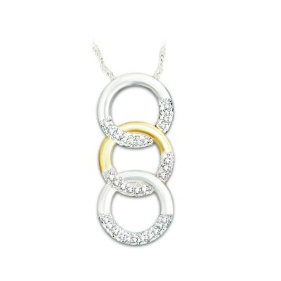 Trilogy Of Love Diamond Pendant Necklace