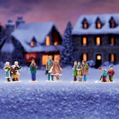 Signs Of The Season Christmas Village Accessory Set