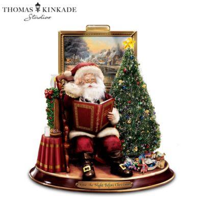 Thomas Kinkade 'Twas The Night Before Christmas Figurine