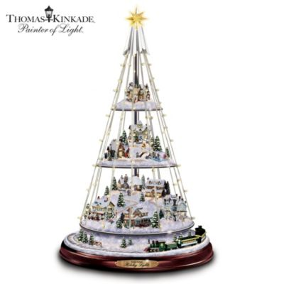 Thomas Kinkade Holiday Lights Tree