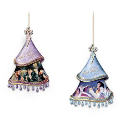 Elvis, A Shimmering Legacy Ornaments: Set Of Two