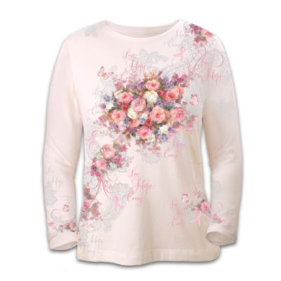 Lena Liu's Hope Blooms Breast Cancer Awareness Shirt