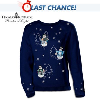 Thomas Kinkade's Wonders Of Winter Sweater