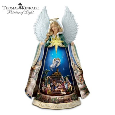 Thomas Kinkade Talking Nativity Angel Sculpture