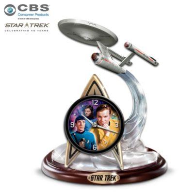 The Final Frontier STAR TREK Tabletop Clock