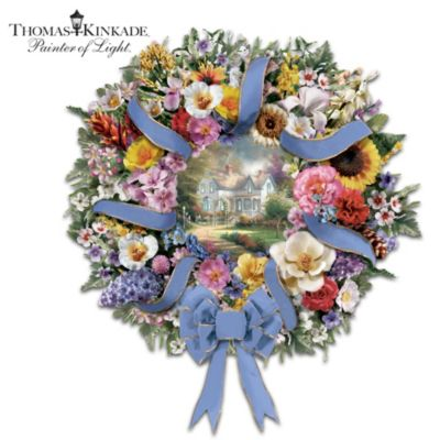 Thomas Kinkade Welcome Wreath