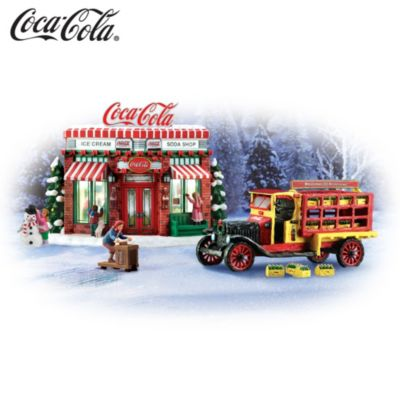 COCA-COLA Refreshing Memories Village Sculpture Set